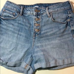 High-Waisted Button-Fly Jean Shorts